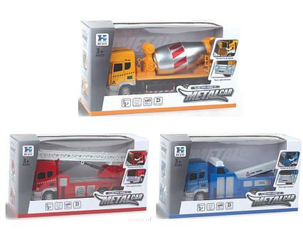 Машина метал. 800/801/802 (48шт/2) 3 види,батар.,світло,звук,в коробці