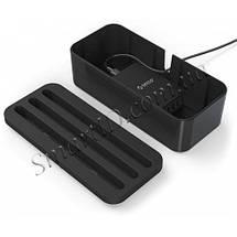 Универсальный органайзер для кабелей Orico Storage Box Organizer с функцией подставки для гаджетов PB1028 (Черный), фото 2