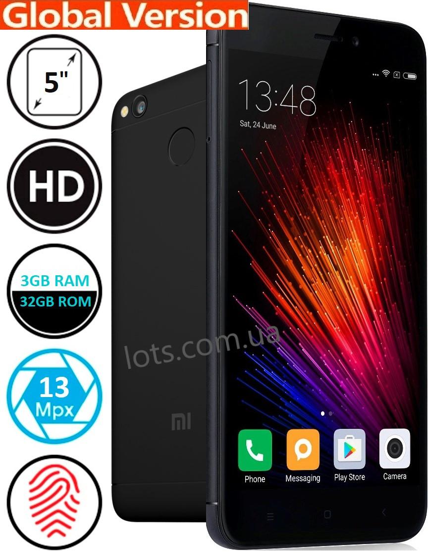Смартфон Xiaomi Redmi 4X 3/32Gb Black 4G Global