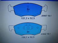 Колодки тормозные передние Fiat Doblo до 2005 г.в.