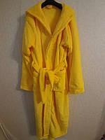 Женский теплый махровый халат однотонный