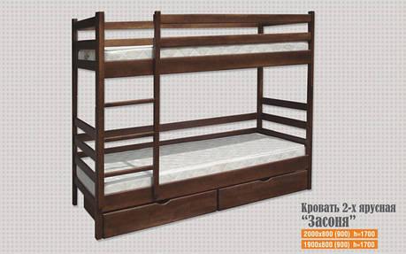 Кровать Засоня 2-х ярусная 0,9 м. (цвет в ассортименте), фото 2