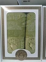 Набор полотенец Версачи (банное+лицевое) Турция Отличное качество