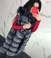 Женская жилетка из чернобурки
