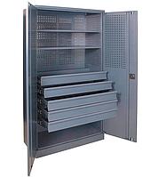 Шкаф инструментальный ШИ-10/2П/5В (1970х1000х500 мм), металлический шкаф для инструментов, фото 1
