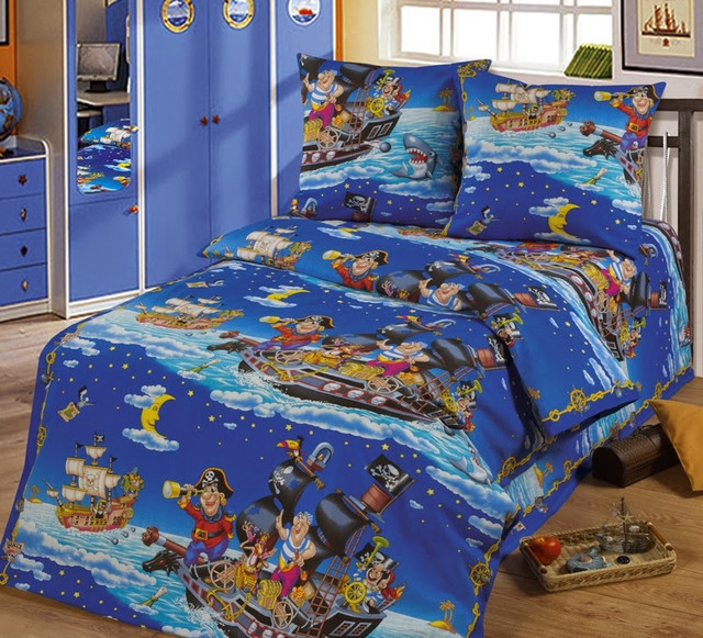 Детское постельное белье Пираты бязь