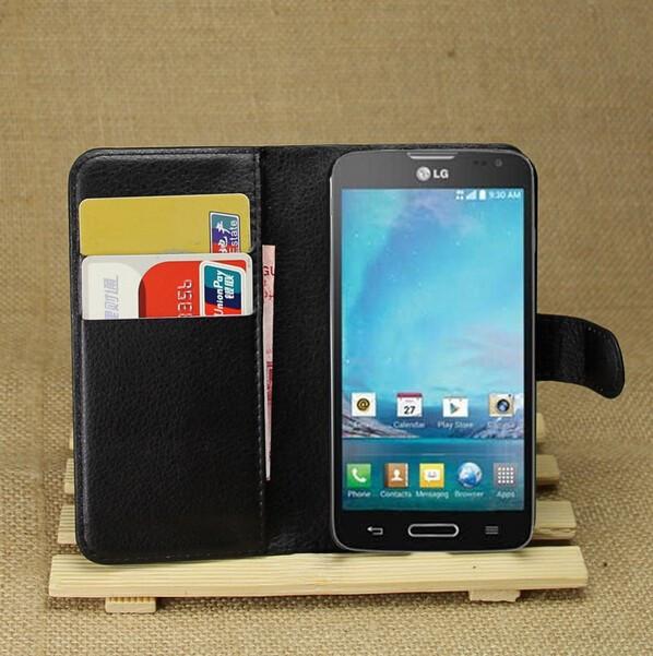 Чехол подставка для LG Optimus L90 Dual D405 D410 Черный