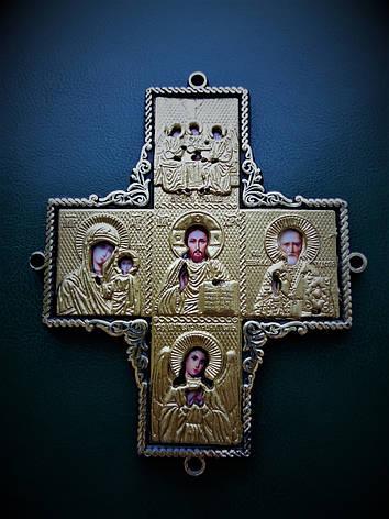 Крест-оберег с ликами святых в автомобиль, фото 2