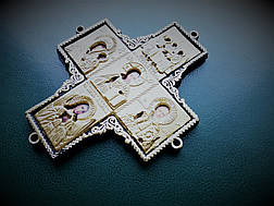Крест-оберег с ликами святых в автомобиль, фото 3