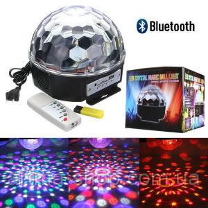 Диско шар Magic Ball LED с bluetooth (MP3 плеером/Usb флешкой/Пульт)