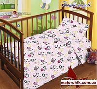 Детский комплект постельного белья Пандочка розов 110х140, фото 1