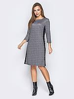c665ac9a40d Теплое стильное платье в клетку с длинным рукавом 46 р