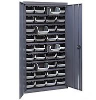 Шкаф инструментальный для контейнеров ЯШМ-18/1 (1800х900х410 мм) с лотками А-300 в количестве 36 шт
