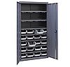 Шкаф инструментальный для контейнеров ЯШМ-18/3 (1800х900х410 мм) с кюветами А-300 в количестве 20 шт