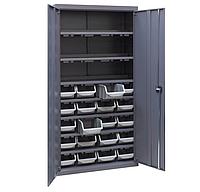 Шкаф инструментальный для контейнеров ЯШМ-18/3 (1800х900х410 мм) с кюветами А-300 в количестве 20 шт, фото 1