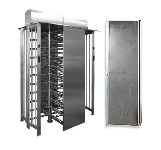 Комплект козырьков для SESAME TWIN/BICYCLONE, шлифованная нержавеющая сталь AISI 304