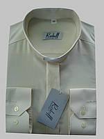 Рубашка для священников   цвета айвери с длинным рукавом