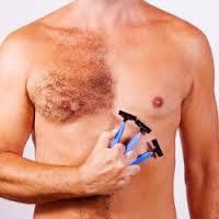 Депиляция груди полностью