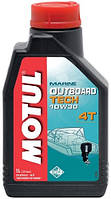 Моторное масло для водного транспорта 4-х тактное полусинтетика MOTUL OUTBOARD TECH 4T SAE 10W30 (1L)