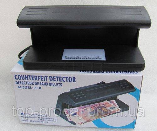 Детектор валют 318, Ультрафиолетовый детектор валют, Детектор проверки денег, Лампа детектор прибор для валют