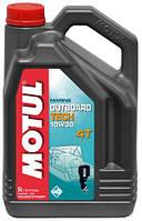 Моторное масло для водного транспорта 4-х тактное полусинтетика MOTUL OUTBOARD TECH 4T SAE 10W30 (5L)