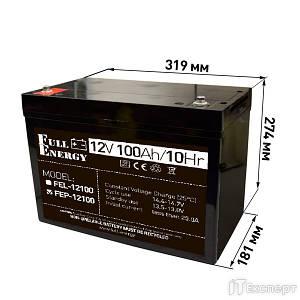 Акумуляторна батарея Full Energy 12V 100AH FEP-12100