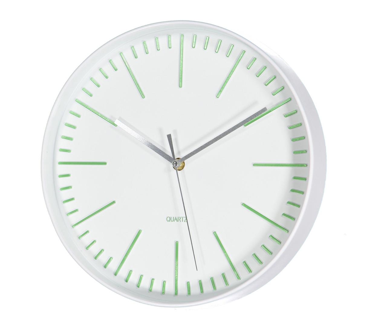 Настенные часы белый пластик d30см 3869600 3869600 3869600