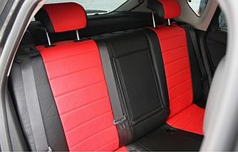 Чехлы на сиденья Мерседес W210 (Mercedes W210) (модельные, экокожа Аригон, отдельный подголовник)