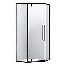 A LÁNY Душевая кабина пятиугольная, реверсивная, 1000*1000*1950 (стекла+двери), двери распашные, стекло прозрачное  6 мм, профиль черный, фото 2