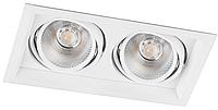 Карданный светодиодный светильник 20Вт 4000K AL202 2хCOB белый, фото 1
