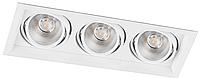 Карданный светодиодный светильник 20Вт 4000K AL203 3хCOB 20W белый