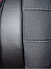 Чохли на сидіння Ніссан Мікра (Nissan Micra) (універсальні, кожзам+автоткань, з окремим підголовником), фото 2