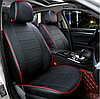 Чохли на сидіння Ніссан Ноут (Nissan Note) (модельні, екошкіра, окремий підголовник), фото 3