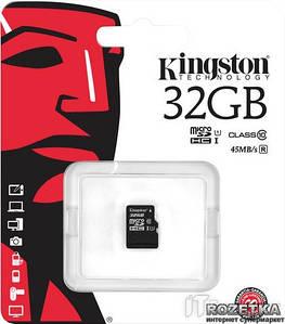 Карта памяті Kingston 32GB microSDHC Class 10 UHS-I (SDCS/32GBSP)