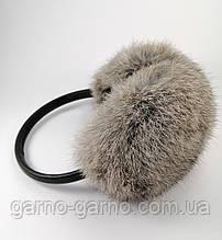 Наушники меховые Зимние кролик Серый Мышиный цвет