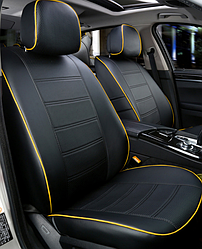 Чехлы на сиденья Пежо 208 (Peugeot 208) (модельные, экокожа, отдельный подголовник)