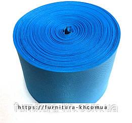 Лента шелковая, цвет голубой, ширина 50 мм (50 м в бобине)