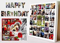Фотоколлаж с днем рождения с ретушью фото за 1 день