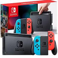Игровая приставка Nintendo Switch with Neon Blue and Neon Red Joy-Con