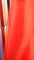 Тюль органза красная однотонная