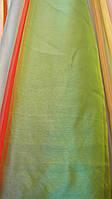 Тюль органза зеленая однотонная , фото 1