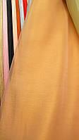 Тюль органза персиковая однотонная