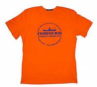 """Футболка """"Fishing ROI"""" XXL (оранжевый)"""