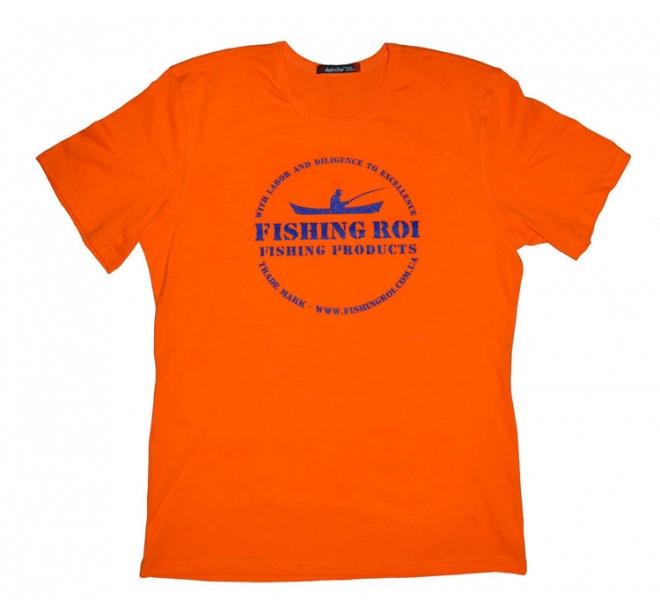 """Футболка """"Fishing ROI"""" XXXL (оранжевый)"""