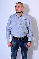 Рубашка мужская серая 2924