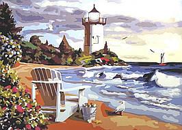 Картина по номерам (BK-GX7033) Вид на маяк 40 х 50 см