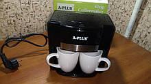 Кофеварка А-Плюс 1549, капельная кофеварка на 2 чашки