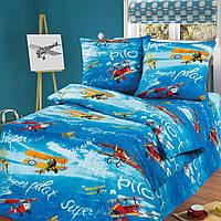 """Подростковое постельное белье Kidsdream """"Пілот"""" полуторного размера."""