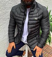 Мужская куртка Lacoste, темно-серого цвета.ТОП КАЧЕСТВО!!! Реплика, фото 1
