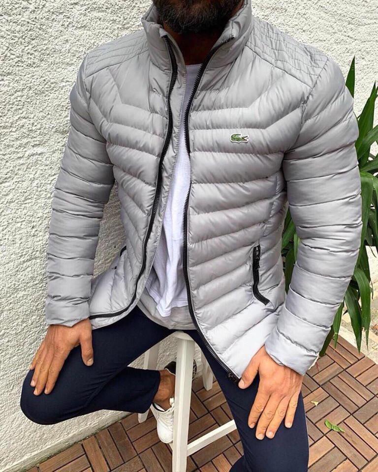 Куртка мужская светло серая. Куртка чоловіча. ТОП КАЧЕСТВО!!!